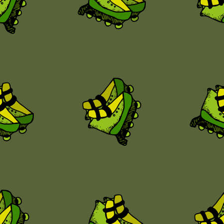 Roller skates seamless illustration speed, sport, style, summer