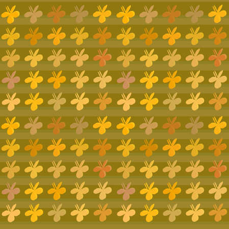 clovers: Colored clovers background pattern Illustration