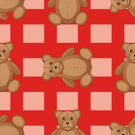 cute teddy bear: Cute teddy bear seamless pattern for kids illustration