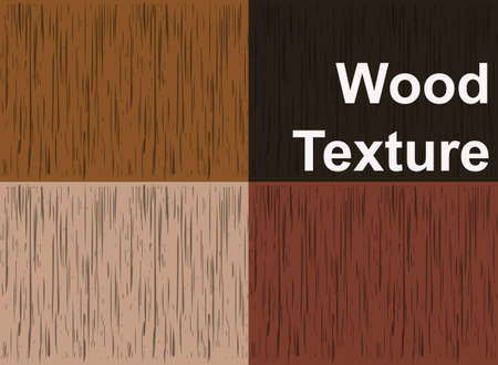 four texture: Set of wood texture backgrounds, four colors included Illustration