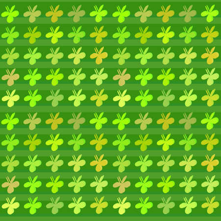 clovers: Colored clovers background. pattern