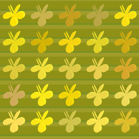 clovers: Colored clovers background. Vector pattern