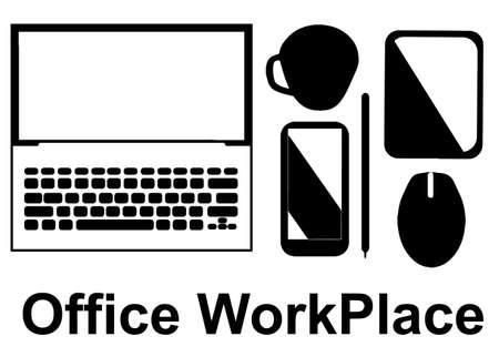 design office: Office workplace concept, design vector illustration