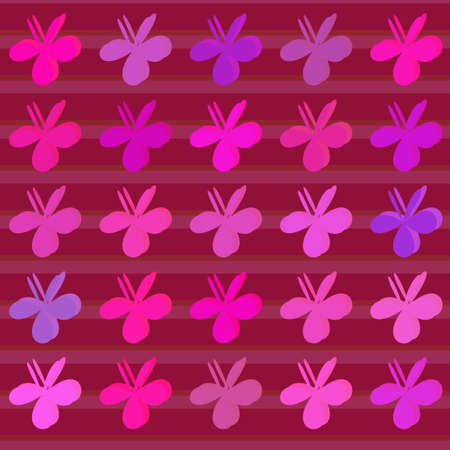 Colored clovers background. Vector pattern