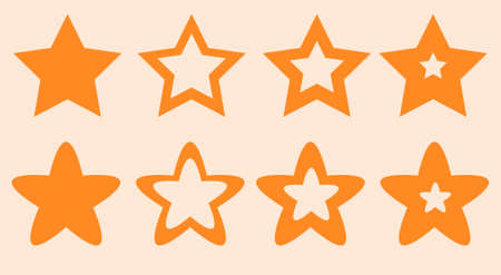 Many stars for site and game vector illustration