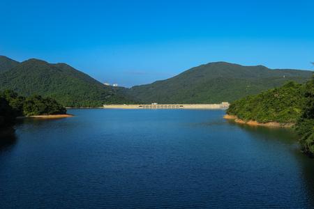 Beautiful Tai Tam Reservoir in Hong Kong