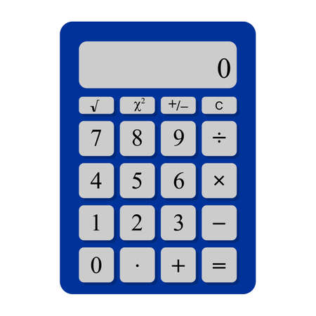 computational: Universal touch calculator that can be used for programs and applications Illustration