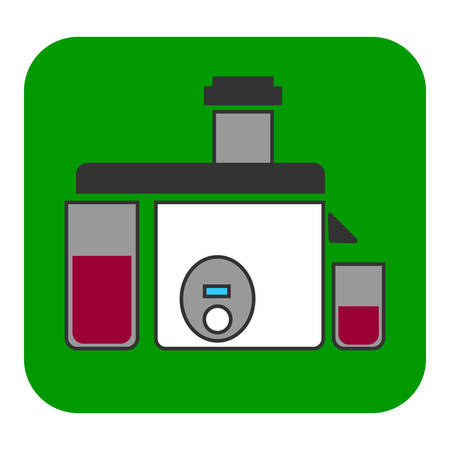 The juicer icon. This illustration shows a flat color icon for web applications.