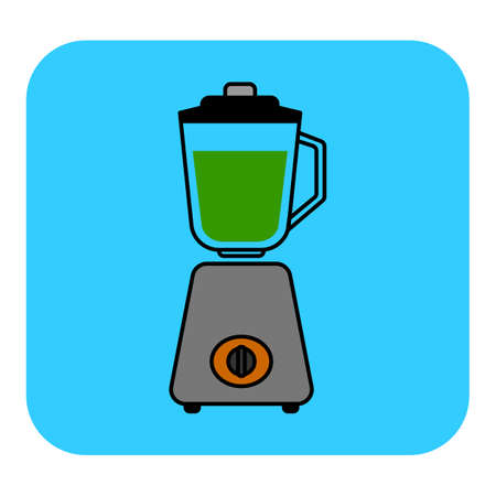 The stationary blender icon Illustration