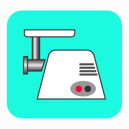The meat grinder icon. This illustration shows a flat color icon for web.