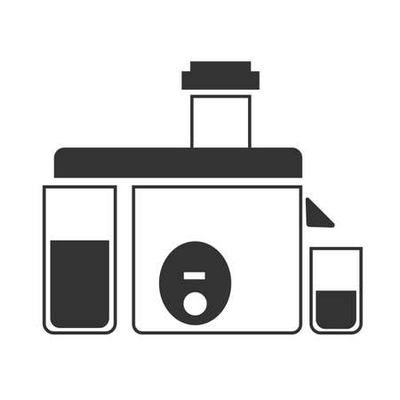 juice extractor: A gray juicer icon. This illustration shows a flat icon for web.