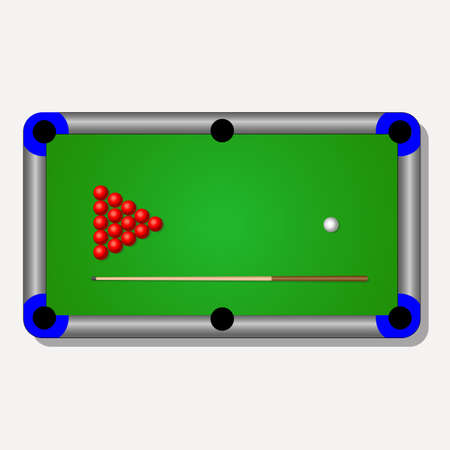 Billiard Table Illustration This Illustration Can Be Used To - Electronic pool table