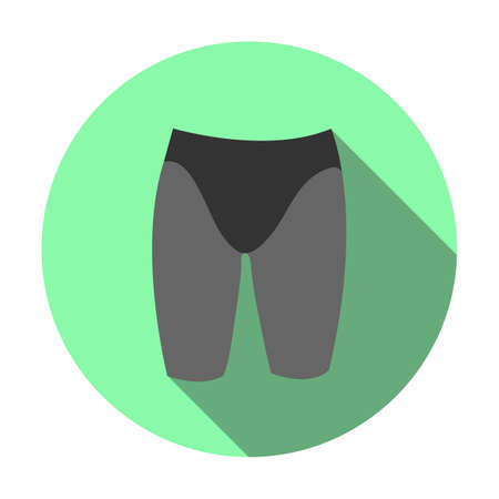 Sports swimming jammers icon. This flat icon can be used for the web. Illustration
