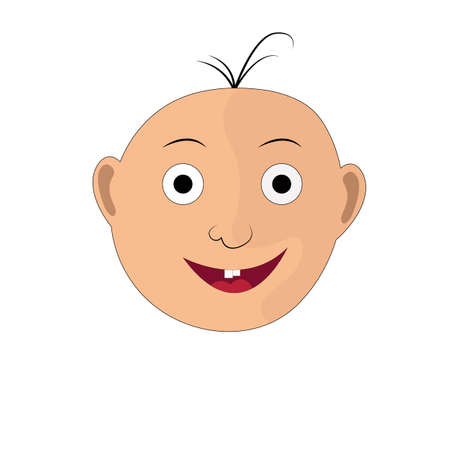 The illustration of a child s face with a smile. This is a vector image. Stock Photo