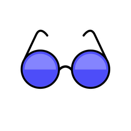 The illustration of glasses. This is a vector picture of glasses.