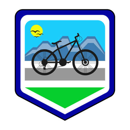 pentathlon: The cycling community logo. This is the vector illustration.
