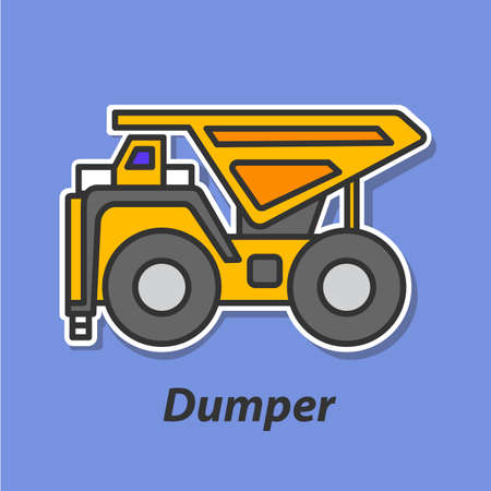 quarry: Dumper color flat icon.