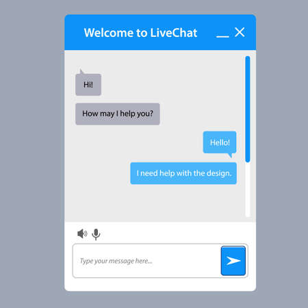 The Universal Live Chat Window For Web. This Is The Template ...
