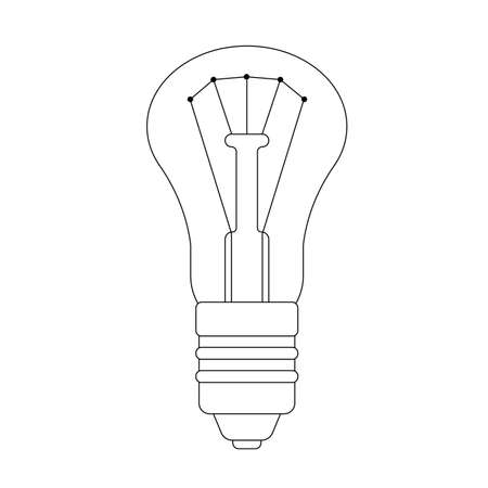 The contour illustration of lightbulb Illustration