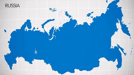 マップ上のヨーロッパとアジアの部門。エカテリンブルグ市は、ヨーロッパとアジアを分割します。地図アニメーション ユーラシア。ユーラシア。