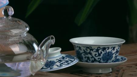 Process brewing tea,tea ceremony.