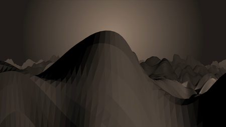 Low Poly Cave Tunnel Zoom at Glowing Light at End Animated 3D Rendered Video. Animated walk along raised ice path through endless ice cave, rendered natively. Realistic 3D animation
