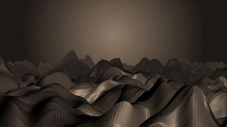 エンドアニメーション 3D レンダリング ビデオのグローライトで低ポリ洞窟トンネルズーム。無限の氷の洞窟を通って上がった氷の道に沿ってアニメ