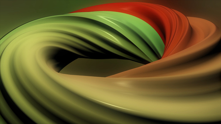 3D colorful animation of a circle or ring. Hypnotic spiral illusion seamless looping. Abstract color wormhole tunnel. Seamless loop. Abstract background with rotation of hypnotic spiral. Animation of seamless loop.