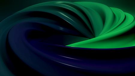 Colorful spiral that spins and gives a dreamy or hypnotic effect. Seamless loop. Animation of rotation hypnosis spiral from colorful caramel, glass or plastic
