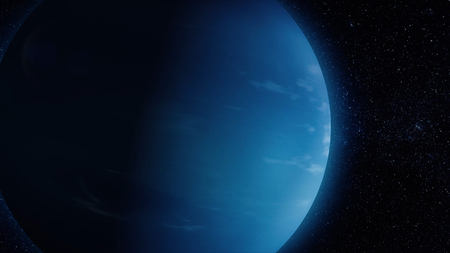 Solar System - Neptune. It is the eighth and farthest planet from the Sun in the Solar System. It is a giant planet. Neptune has 14 known satellites.