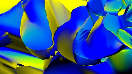Fantastic structure of colorful bubbles. Bright Colors Bubbles Slow Motion Oil Beautiful Paint Surface Universe Of Color Moving Multicolored Macro. Chaotic motion. Abstract colorful paint