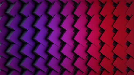 Colorful Cubes Seamless Loop. Abstract Cubes Background Random Motion, 3d Loopable Animation. Stock Photo