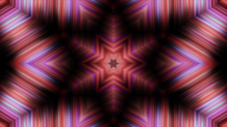 Abstract animation with hand drawn geometric kaleidoscope pattern. Abstract CGI motion graphics and animated background with gold