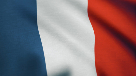 France Flag - looping, waving, A beautiful finish looping flag animation of France. 写真素材 - 100412787