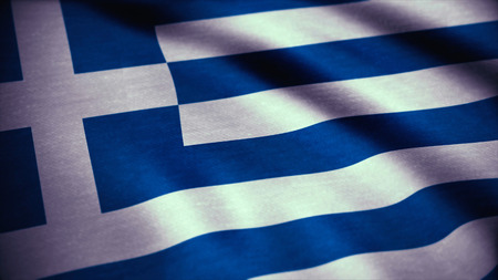 An Animation of the Flag of Greece. Flag of Greece waving