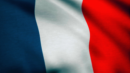 France Flag - looping, waving, A beautiful finish looping flag animation of France 写真素材 - 100412800