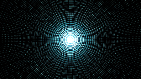 Abstract background with animated circular motion. Animation of seamless loop. Zoom on abstract circular light background.
