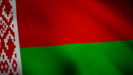 Belarus Flag. Seamless Looping Animation. Belarus flag waving animation. Full Screen. Symbol of the country Stock Photo