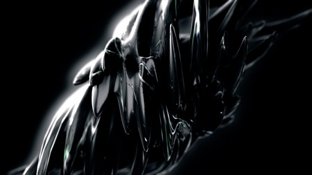 Dark matter. Abstract Black Spiky Sphere Object Looping with Alpha Matte. Stock Photo
