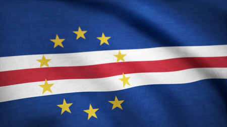 Cape Verde Flag. Background Seamless Looping Animation. A beautiful satin finish looping flag animation of Cape Verde.