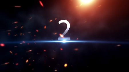 Countdown animation from 1 to 10 with explosion fire burning effect background. Stock. Sparkling numbers countdown from 10 to 0 made with sparklers