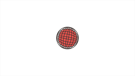 Abstract animation with different figures moving in a circle.