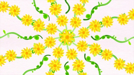 Abstract animation of the formation of flowers. Beautiful animation of the formation of colors for your design.