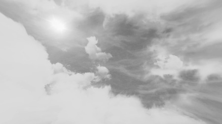 Animated Storm Cloud Fast Motion. cinematic animation background, flying through stormy clouds, looped Banco de Imagens