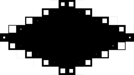 Pixel Animation On Black and White Background. Pixelated digital screen texture with a monochromatic black and white random changing pattern. Motion background of black and white cubes
