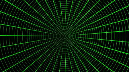 Green Radar Screen, Air Traffic. Seamless Loop. Black screen with green scanner.