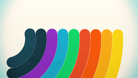 Swirling colorful lines in circle on white background. Rainbow and pastel color concept. Abstraction of rainbow lines