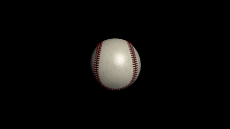 Baseball ball isolated. A close up of a baseball showing the texture of the leather