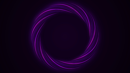 Abstract rotation angel wings ring background,turbine tunnel circle hole,round gear,fiber optic eye. Rotating circles. Seamless loop.