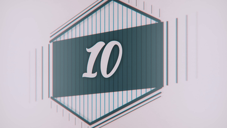 Count 1 to 10. Stop motion animation with color paper. Count from 1 to 10 classic style with lines.